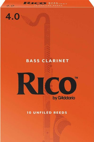 Rico 4.0 Strength Reeds for Bass Clarinet (Pack of 10) - REA1040
